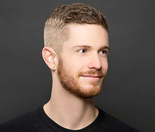 Textured Quiff with Drop Fade