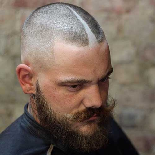 Crew Cut with Middle Part Design