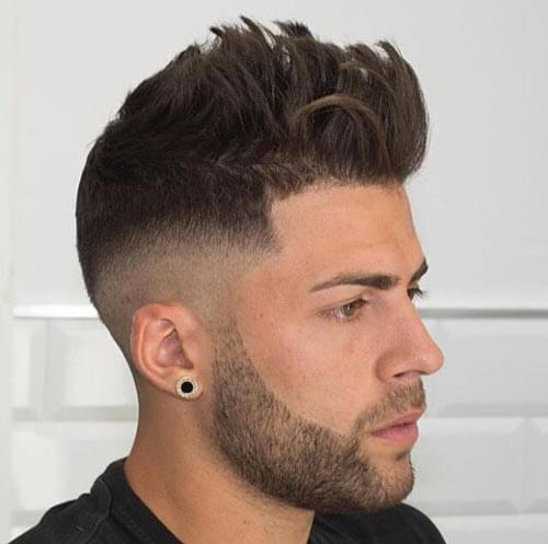 Textured Quiff With Fade