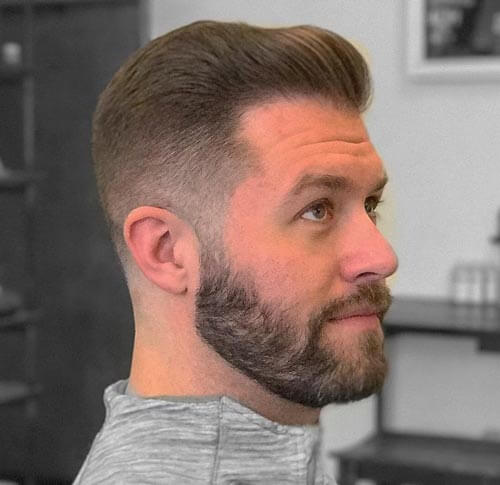 Comb Over with High Fade