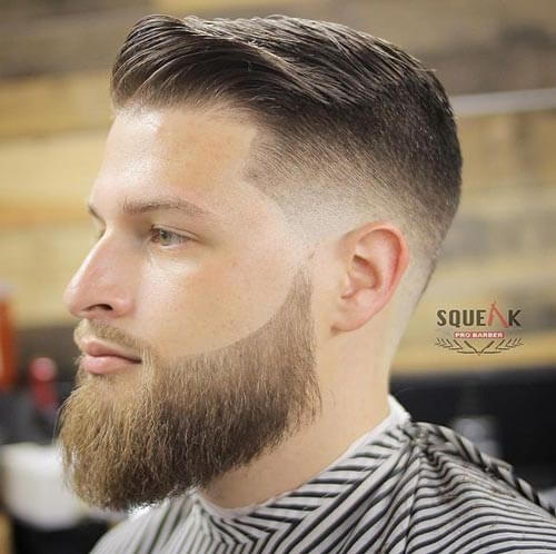 Comb Over with Skin Fade