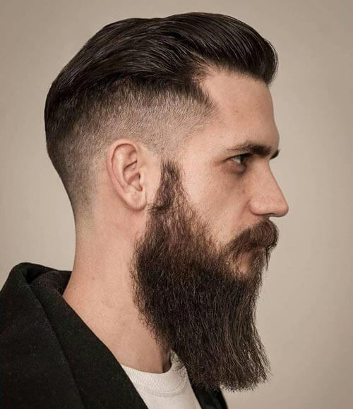 High Drop Fade with Beard