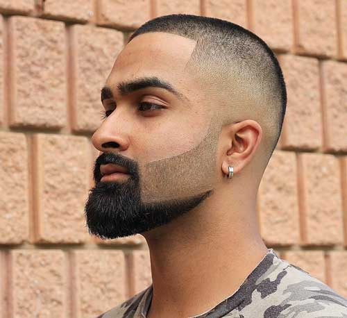 High and Tight Haircut with Beard Design