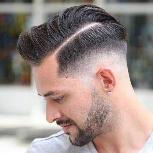 Quiff Haircut with Drop Skin Fade