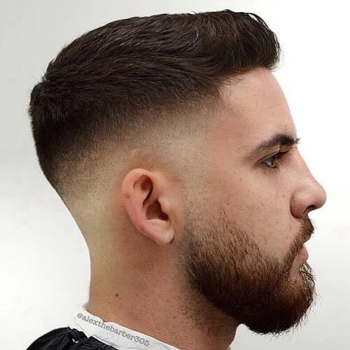Brushed Up Crew Cut with Skin Fade