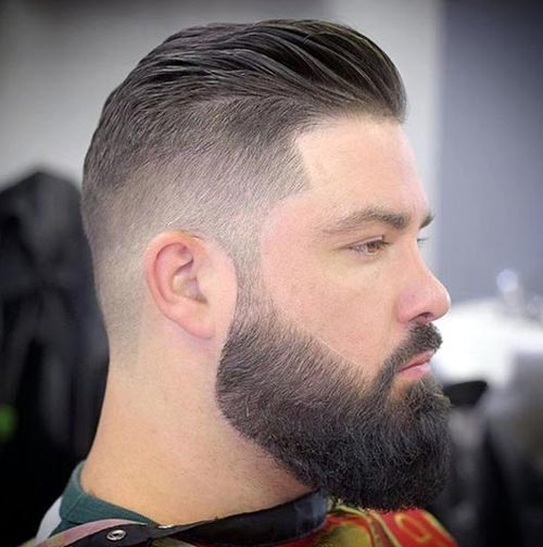 Side Swept Haircut with Undercut