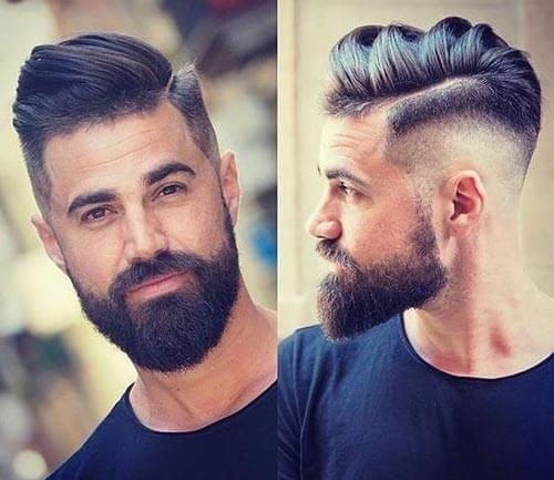 Layered Quiff with Drop Fade