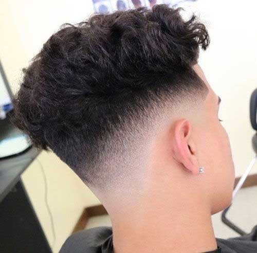 Messy Taper with Curly Top