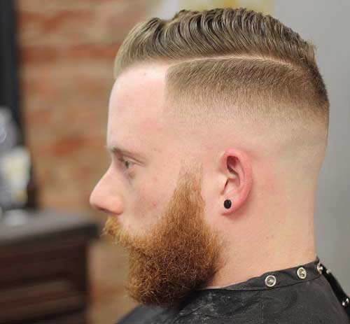 Quiff Haircut with High Drop Fade