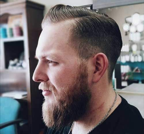 Comb Over with Mid-Length Sides