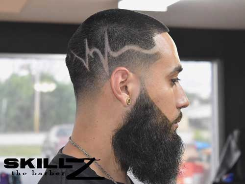 Buzz Cut with Life-line Design