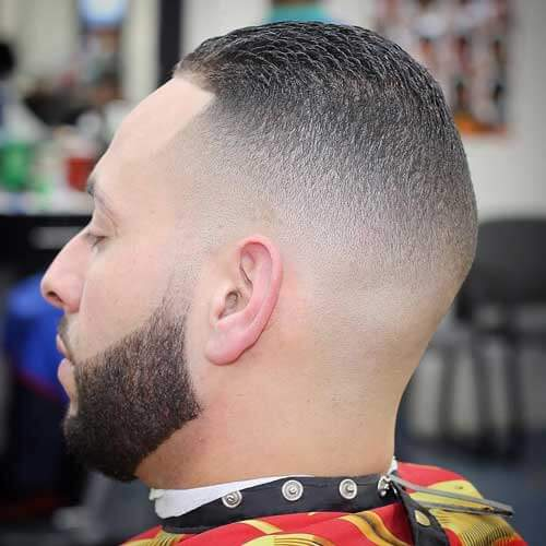 Crew Cut Haircut with Buzzed Sides