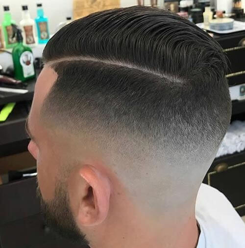 Side Part Haircut with High Skin Fade