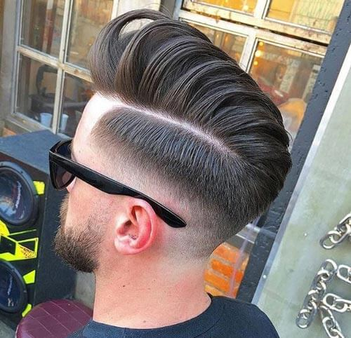 Quiff Haircut with Drop Fade