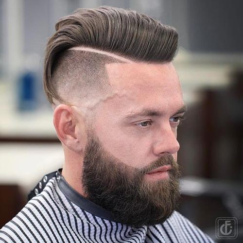 Comb Over Quiff with Deep Part