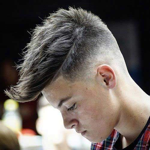 Long Fringe with Low Skin Fade