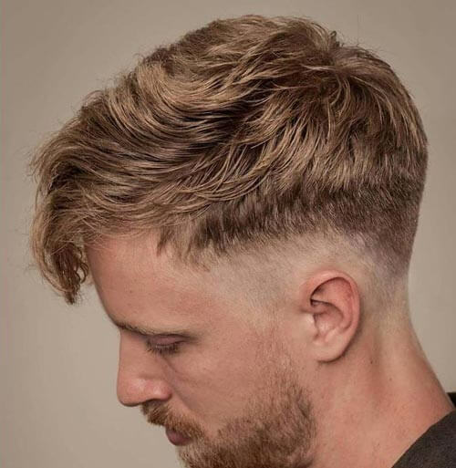 Low Drop Fade with Fringe