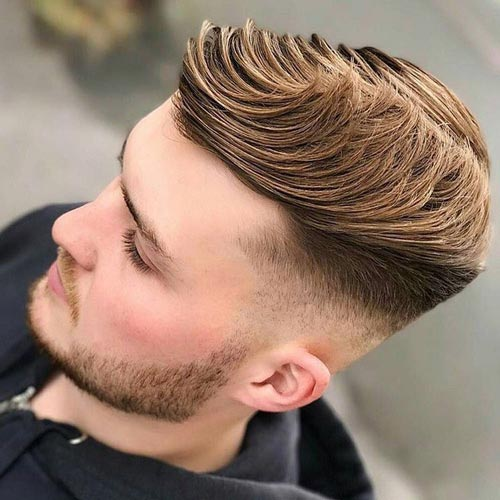 Comb Over with Low Fade Undercut