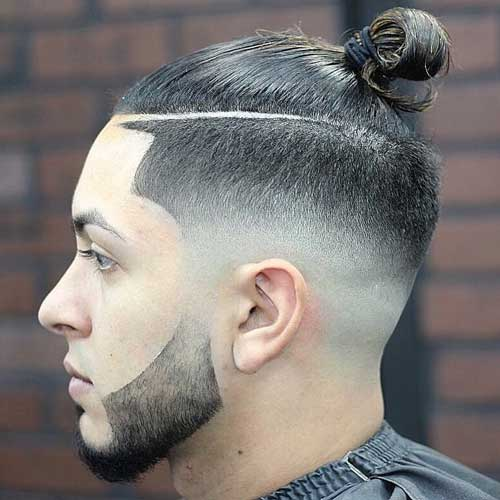 Temple Fade Top Knot