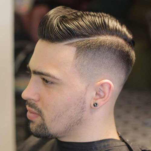 Pompadour and Fade with Part