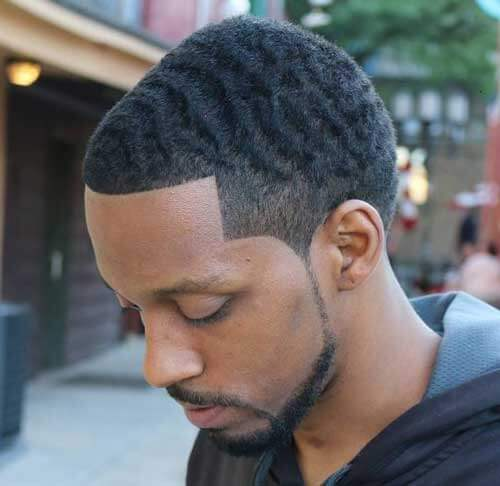 Wavy Temple Fade Haircut