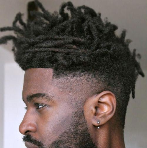 Messy High Top with Dread Fade