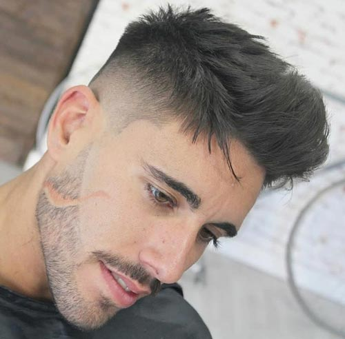 Swept Up Haircut with Fade