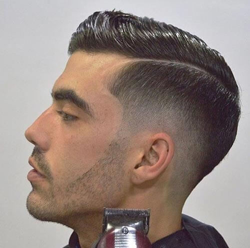 Comb Over with Low Fade