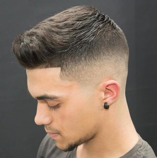 Temple Fade Cropped Haircut
