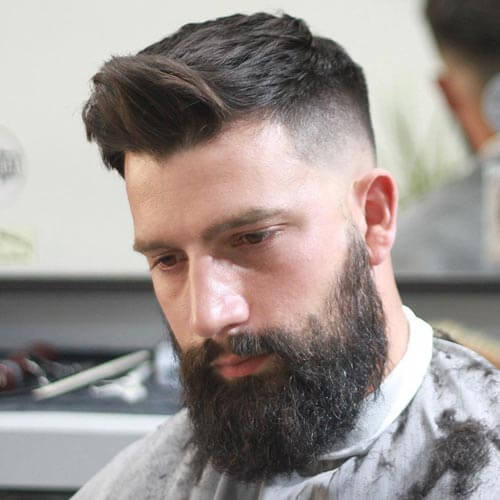 Comb Over Quiff with Bald Fade