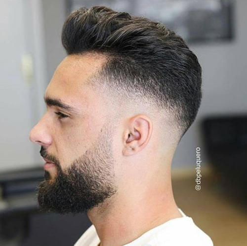 Pompadour with Razor Fade