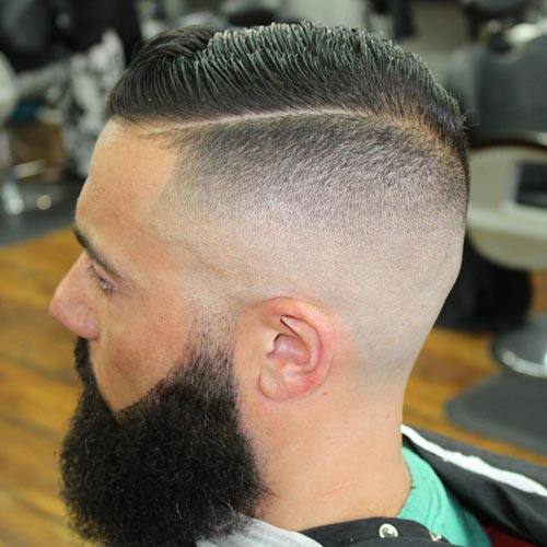 Sharp Comb Over with Disconnected Undercut