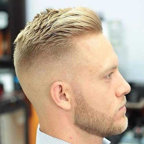 Comb Over with Disconnected Undercut