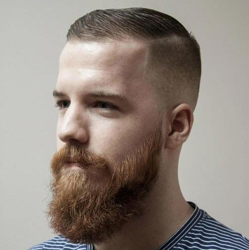 Side Part with Skin Fade and Beard