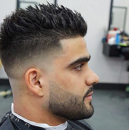 Spiky Top with Low Fade