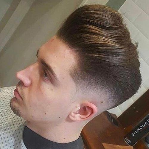 Textured Pompadour with Skin Fade