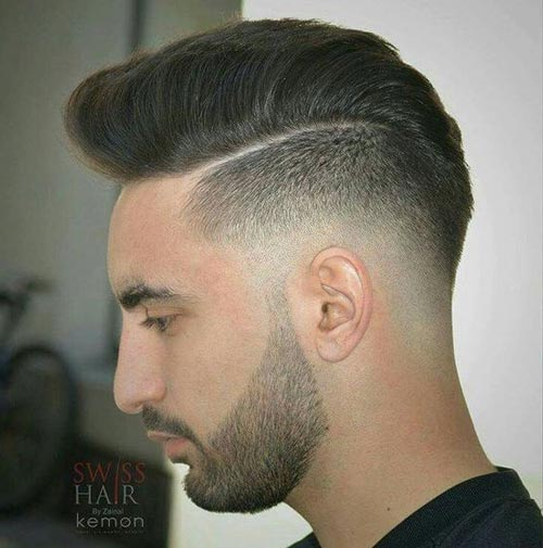 Disconnected Undercut with Razor Fade