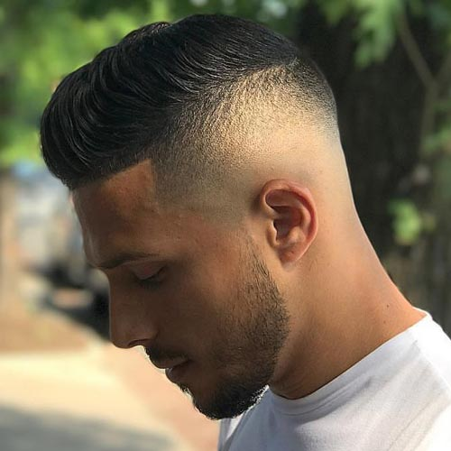 Modern Comb Over with Temp Fade