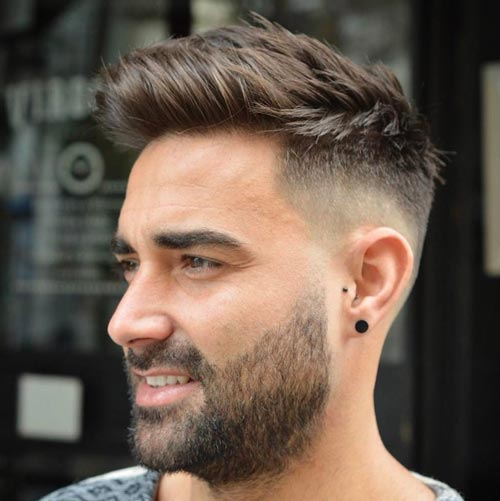 Soft Comb Over Haircut with Spikes