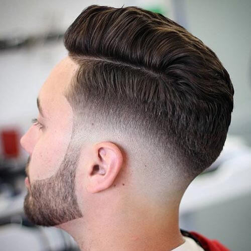 Comb Over with Bald Fade and Part