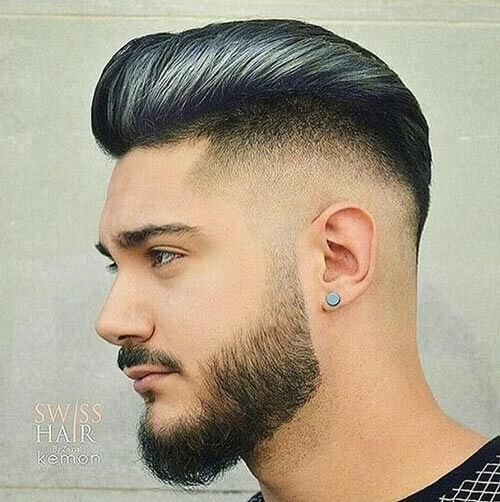Highlighted Pompadour with Undercut