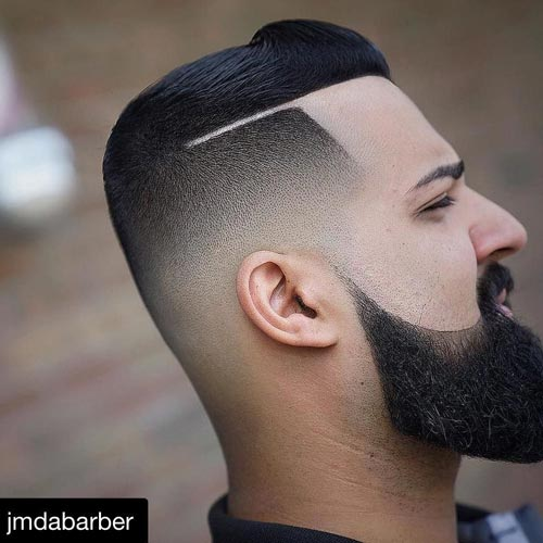 Neat and Elegant Comb Over Fade