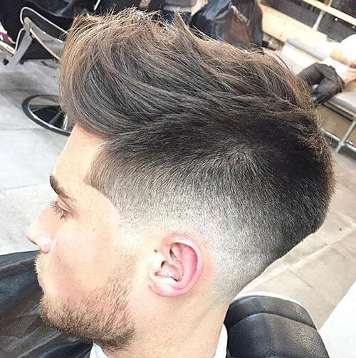 Quiff with Lineup and Low Fade