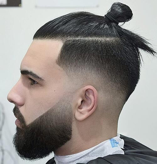 Man Bun Undercut with Fades