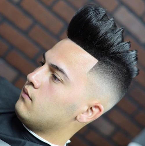 Sectioned Pompadour with High Skin Fade
