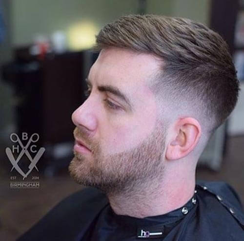 Textured Crew Cut with Taper Fade