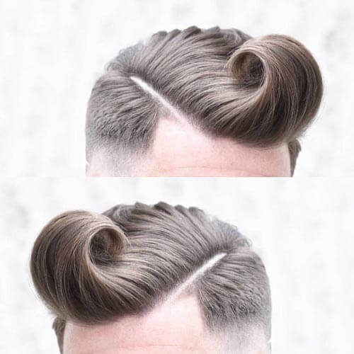 Toulsed Pompadour Fade with Part