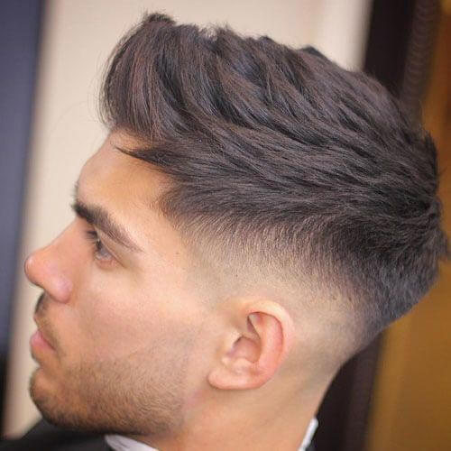 Cropped Quiff with Skin Fade