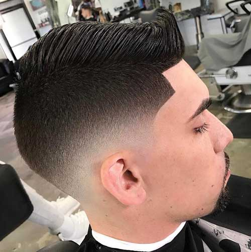 Neat Comb Over Fade with Line Up
