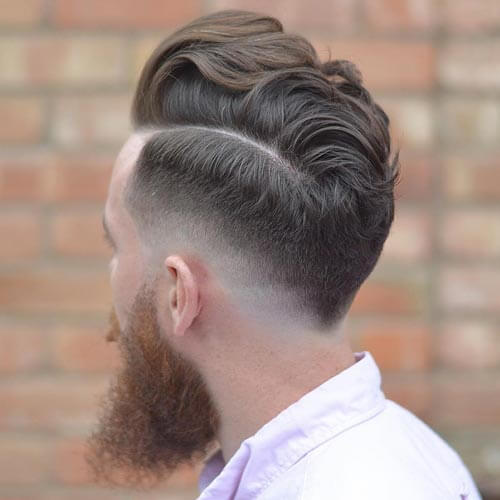 Comb Over with Tapered Sides